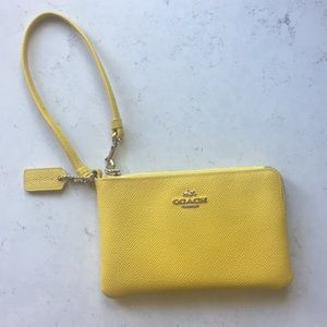 Yellow Coach wristlet